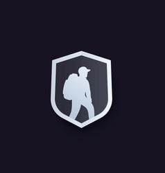 Hiker logo vector