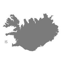 iceland map grey vector image