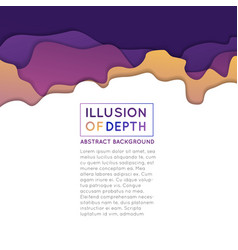 Ilusion of depth wavy pattern background vector