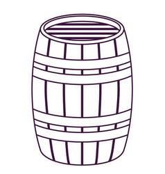 isolated beer barrel design vector image