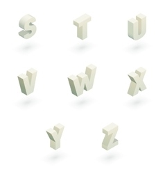 Isometric letters s to z vector image