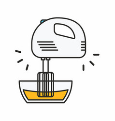 kitchen mixer icon vector image