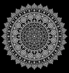 Mandala design aboriginal dot painting vector