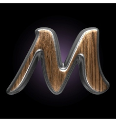 metal and wood figure vector image