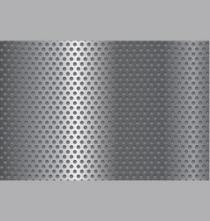 Metal perforated background vector