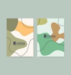 modern minimalist abstract botanical wall art vector image