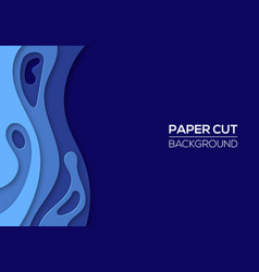 modern paper cut art design template vector image
