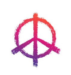 peace sign on white vector image