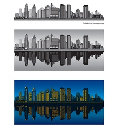 Philadelphia skyline vector