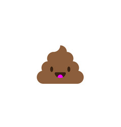 pile of poo icon shit emoticon flat design vector image