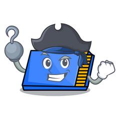 Pirate memory card character cartoon vector