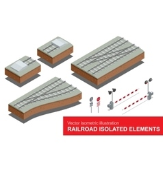 Railroad isolated elements for rail freight vector