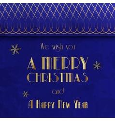 Retro Christmas Card Vintage vector image