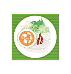 rice noodle vector image