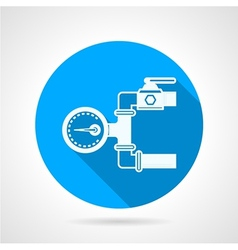 Round icon for pressure gauge vector image