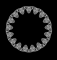 round openwork frame celtic intertwined vector image