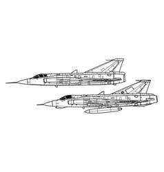 Saab j35 draken vector