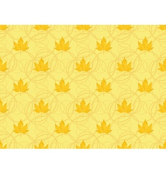 seamless pattern with maple leaves vector image