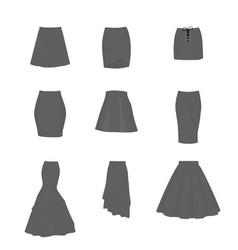 Set different types skirts vector