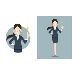 She give thumb up for work vector