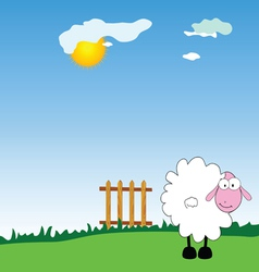 sheep on the farm vector image