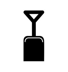 shovel beach isolated icon vector image