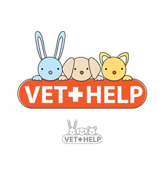 Sign of veterinary care vector
