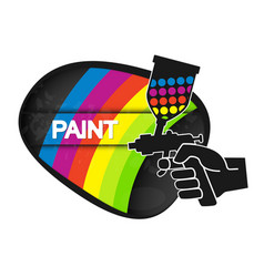 Spray for painting vector