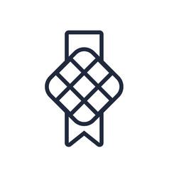 Square muslim decoration line style icon vector