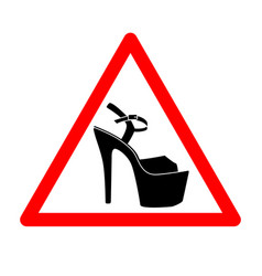triangle with shoes inside heels icon vector image