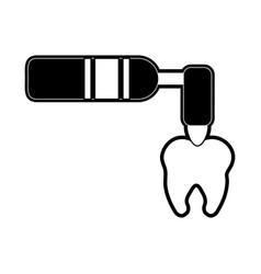 Uv light on molar dentistry icon image vector