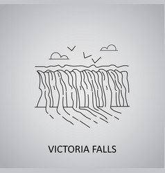 Victoria falls zimbabwe icon vector