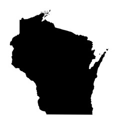 Wisconsin wi state border usa map solid vector