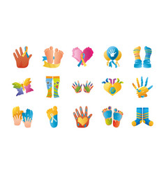 World down syndrome day international awareness vector