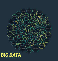 circular big data colorful vector image vector image