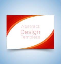flyer template wave design 1 vector image vector image