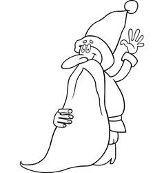 santa claus cartoon for coloring book vector image vector image