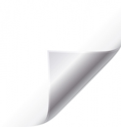 silver page curl vector image