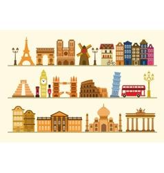color travel icon set vector image
