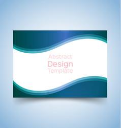 flyer template wave design 2 vector image vector image