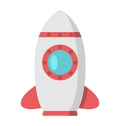 Beautiful rocket with porthole vector image vector image