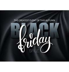 black friday poster with 3d vector image vector image