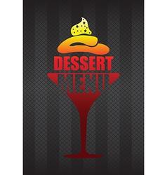 dessert menu background vector image vector image