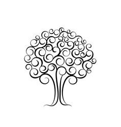 family tree for wedding invitation design vector image vector image