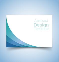 flyer template wave design 3 vector image