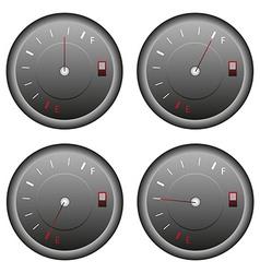 Fuel meter set vector image