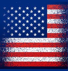Grunge textured american flag background vector