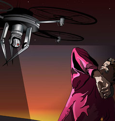 Attack of the Drones vector image