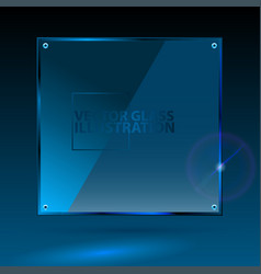 blue square glass - light background and vector image