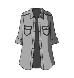 green women s jacket with buttons and short vector image vector image